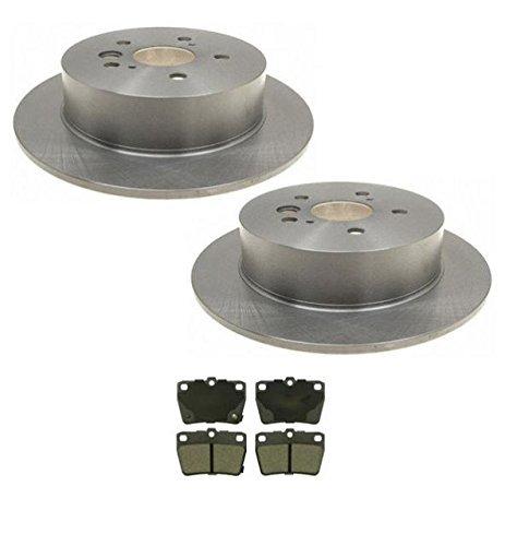 Mac Auto Parts 25816 Toyota Rav 4 Rear (2) Brake Rotors & Rear Brakes Pads