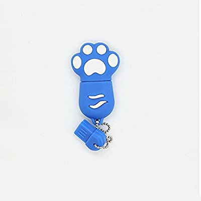 "Love You Premium Blue ""Paw"" USB 2.0 Flash Memory Drive 4GB Chirstmas Gift 2014"