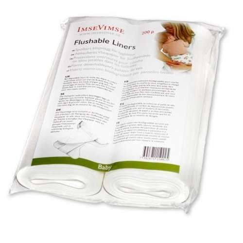 Imse Vimse Flushable Liner (2PK) 200 pieces/2 rolls (Baby)