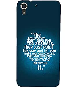 PrintDhaba QUOTE D-6922 Back Case Cover for HTC DESIRE 728 (Multi-Coloured)