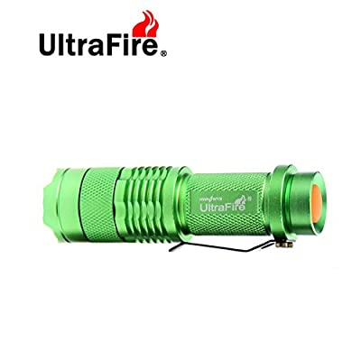 UltraFire Tactical Flashlight(Rechargeable 14500 Battery Included and With Charger) - The Original 300 Lumen Ultra Bright, LED Mini3 Mode Flashlight,Waterproof Flashlight torch