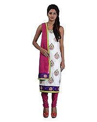 Mumtaz Sons Women's Cotton Unstitched Dress Material (MS111418C,Magenta)