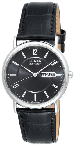 Citizen Men&#8217;s BM8240-03E Eco-Drive Black Leather Watch
