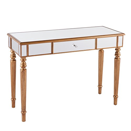 Brandilyn Mirrored Console Table - Champagne Gold (Mirror For Console compare prices)