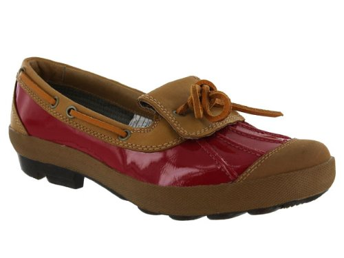 Women's Ashdale - Black Slip-on Shoes,Red/Fawn,5 US