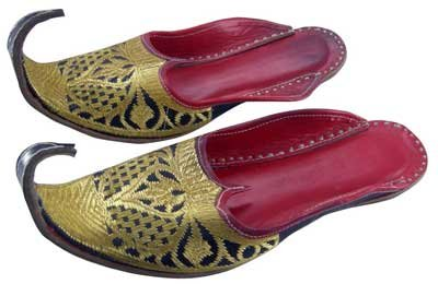 Cheap Mens Khussa Shoes Zari Embroidery Punjabi Jutti / Mojari Indian Clothing (B00A3ISKII)