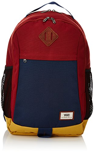 Vans -  M Skooled Backpack, Zaino da uomo, 25l,  Multicolore (Russet Colorblock), Taglia unica