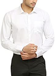 ODIN Men's Button Down Shirt (ODSH00026, White, 44)