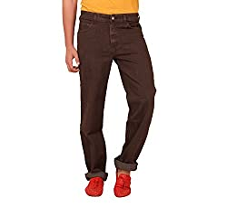 Carrie Men's Regular Fit Jeans (CJ_B805_Brown_46)
