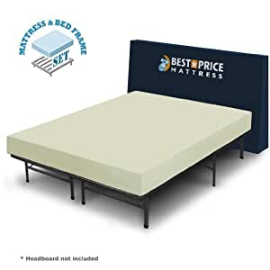 O Deals Best Price Mattress 6 Comfort Memory Foam Mattress And Bed Frame Set Queen Bed