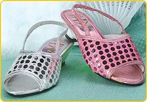 Pink Sequin Dot Sandals (Size M) - Buy Pink Sequin Dot Sandals (Size M) - Purchase Pink Sequin Dot Sandals (Size M) (Costume Express, Toys & Games,Categories,Pretend Play & Dress-up,Costumes,Accessories)