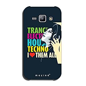 Mozine Music Love Them All printed mobile back cover for Samsung galaxy j2