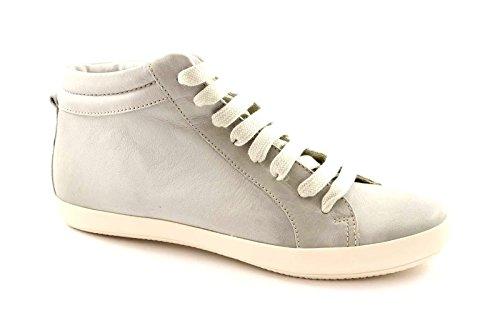 GRUNLAND GIò PO0537 grigio scarpe donna sneakers mid pelle 40