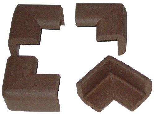 Kidkusion 4 Pack Brown Toddler Corner Cushions, Brown