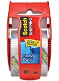 Scotch Heavy Duty Shipping Packaging Tape, 1.88 Inch x 800 Inch, Clear, 4-PACK (Package include Retractable Pen)