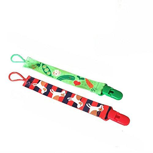 KidsHobby® Bella tettarella Clip 2 pacchetto universale unisex design Ciuccio titolare misura tutti gli stili Ciuccio per ragazze e ragazzi