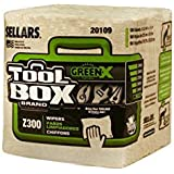 "Sellars 20109 ToolBox Z300 GreenX Series Recycled 1/4 Fold Wiper, 13"" Length x 12-1/2"" Width, Natural (12 Bundles of 90 Sheets)"