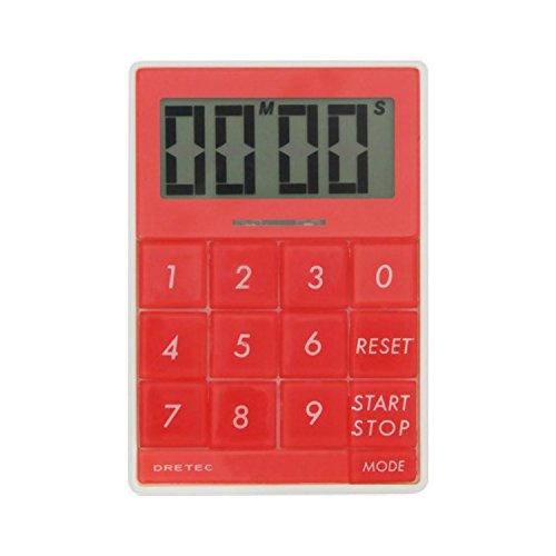 DRETEC デジタルタイマー 「キュービック」 【光とメロディで時間をお知らせ】 レッド T-192RD