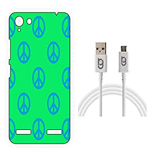 Designer Hard Back Case for Lenovo Vibe K5 Plus with 1.5m Micro USB Cable