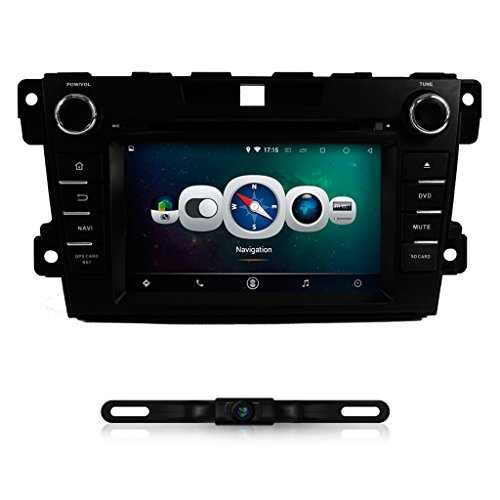 IOKONE Android 4.4 Quad Core Double DIN Car Stereo with DVD GPS Navigation Radio for MAZDA CX-7 2010 2011 2012 2013 2014 2015 Support 3G Wifi Bluetooth USB SD FM AM Radio RDS SWC Mirror Link (Sd Gps Mazda 3 2014 compare prices)