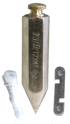 Task Tools T23147 8-Ounce Plumb Bob, Steel, Hex-Shaped
