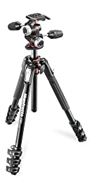 Manfrotto MK190XPRO4-3W 190 Aluminum 4 Section Kit (Black)