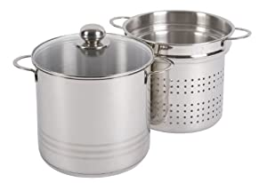 My Basics Germany 18/10 Stainless steel Spaghetti Pot Set with Strainer Insert and Lid 5.5 Liter Capacity