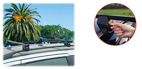 Sicherer und schnell zu montierender Stahl Dachträger 90309831 für Citroën C3 (MK1) mit normaler ( hochstehender) Dachreling - TÜV Geprüft