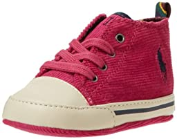 Ralph Lauren Layette Falmuth High Crib Shoe (Infant/Toddler),Preppy Pink Corduroy,4 M US Toddler