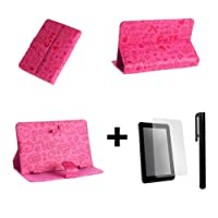 Luxury Cute Pink Case Cover Stand for Onebook Genius 7'' 7 Inch Android Tablet Pc + Screen Protector + Stylus Pen from bestdeal UK