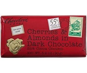 Amazon.com : Chocolove Dark Chocolate Cherry & Almond Mini Bar 48x 1.3 ...