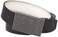 Buffalo by David Bitton Men's Engraved Buckle Belt, Black/White, X-Large