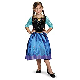 Disguise Anna Classic Costume, X-Small (3T-4T)