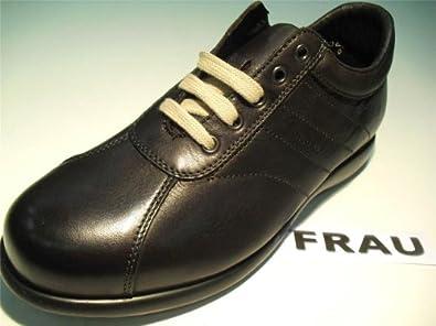 Scarpe uomo frau calzature pelle colore marrone scuro for Scarpe uomo amazon