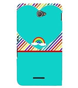 Beautiful Rainbow Pattern 3D Hard Polycarbonate Designer Back Case Cover for Sony Xperia E4 Dual :: Sony Xperia E4