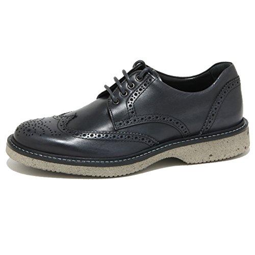 1961O scarpa allacciata HOGAN ROUTE DERBY nero blu scarpe uomo shoes men [5]