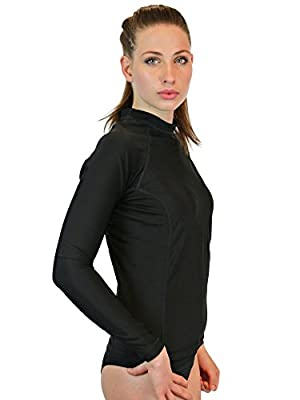 Rash Guard For Women - Long Sleeve, UV 50 Skin/Sun Protection, High Quality Swim & Workout Shirt. Lifetime Warranty, Made In The USA! - Goddess Rash Guards Are The Ultimate Athletic Compression Shirt. Perfect for Crossfit, Swimming, Surfing, Cycling or Ru