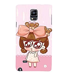 Cute Girl with big specs 3D Hard Polycarbonate Designer Back Case Cover for Samsung Galaxy Note 4 :: Samsung Galaxy Note 4 N910G :: Samsung Galaxy Note 4 N910F N910K/N910L/N910S N910C N910FD N910FQ N910H N910G N910U N910W8