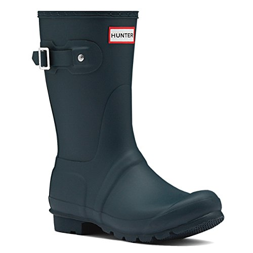 Womens Hunter Original Short Winter Waterproof Wellingtons Rain Boots - Ocean - 8 (Hunter Rain Boots Ladies compare prices)