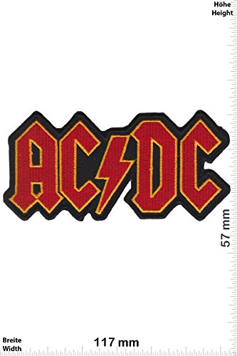 Patch - AC DC - ACDC - red gold - Musicpatch - Rock - Vest - Iron on Patch - toppa - applicazione - Ricamato termo-adesivo - Give Away
