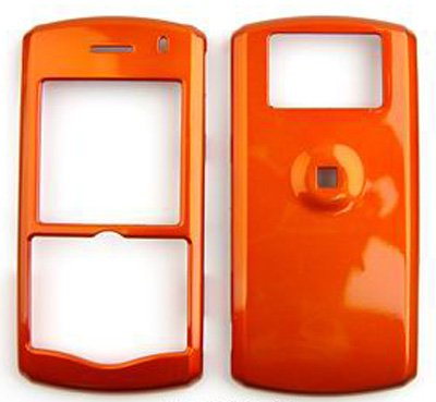 Blackberry Pearl 8100/8110/8120/8130 Honey Burn Orange Hard Case/Cover/Faceplate/Snap On/Housing/Protector