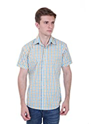 Skatti Pure Cotton Multi Color Half Sleeves Check Shirt