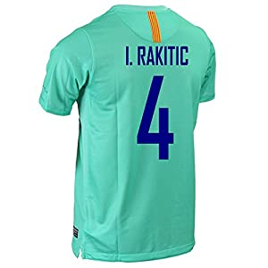 FC Barcelona I. RAKITIC #4 Away Soccer Jersey (2XL)