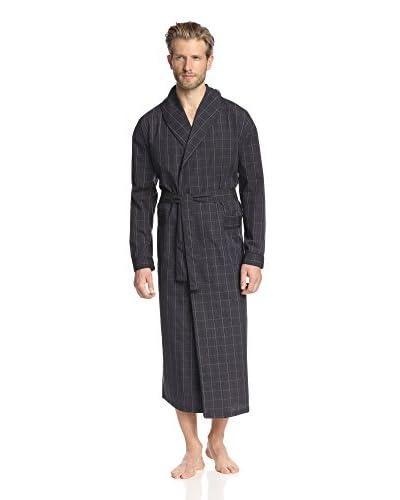 Ike Behar Men's Plaid Shawl Collar Robe