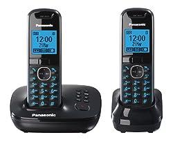 Panasonic KX-TG5522EB DECT Twin Digital Cordless Phone Set with Answer Machine - Black
