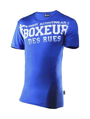Boxeur Des Rues Fight Activewear T-shirt Scollo Rotondo con Logo, Royal, M