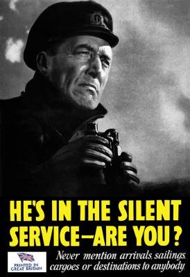 Digital Enhancement Wall Decals Vintage World War Ii Poster Of A Naval Officer Holding Binoculars While On The Lookout - 24 Inches X 16 Inches - Peel And Stick Removable Graphic