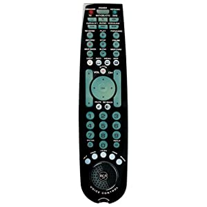 RCA RCRV06GR 6 Device Voice Control Remote (Gloss Black)