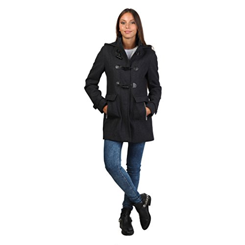 halifax-womens-ladies-hooded-button-fastening-duffle-coat-l-dim-grey