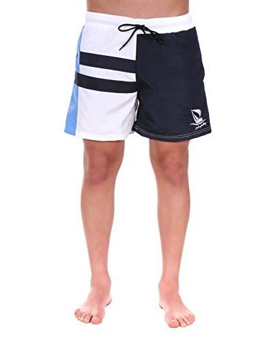 Giorgio di Mare Shorts da Bagno Dillono [Bianco/Blu Navy]